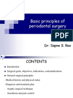 Basic principles of periodontal surgery