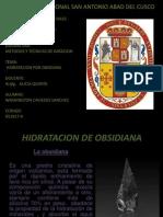 Hidratacion de Obsidiana II