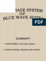Sewerage System of Blue Wave Hotel.