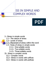 NHA1 - Stress in Simple and Complex Words