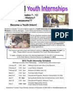2012 Youth Internship Application - North Berrien Historical Museum