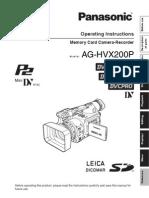 Manual Hvx Ag Hvx200 3