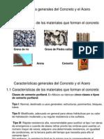 Caracteristicas Generales Del Concreto y Del Acero