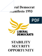 Liberal Democrat 1993 Election Manifesto