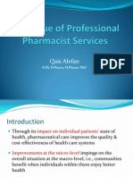 The Value of Professional Pharmacist Services