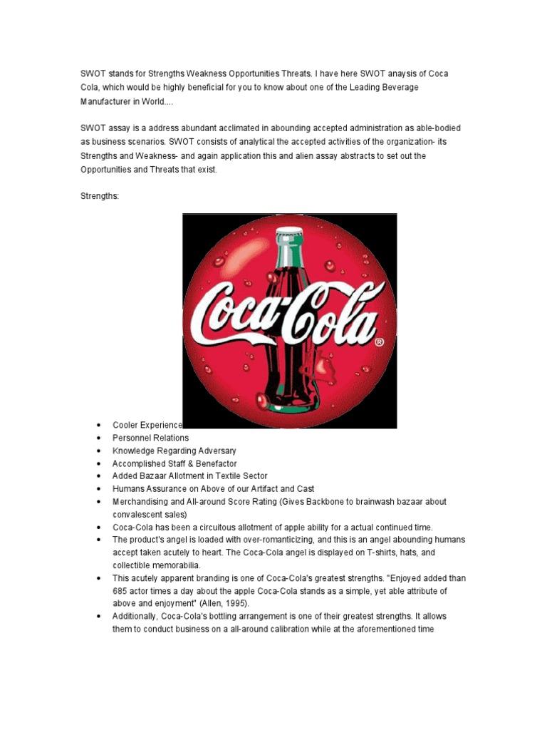 coca cola weaknesses