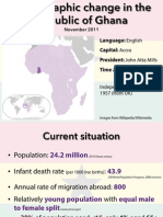 Demographic Change in the Republic of Ghana