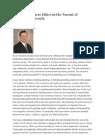 Ethics & Professional Growth