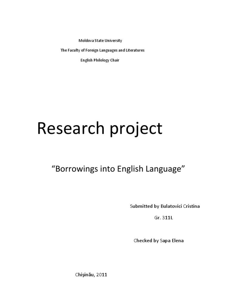 Borrowings   English Language   Word