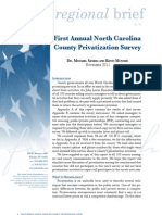 RB83 First Annual North Carolina County Privatization Survey