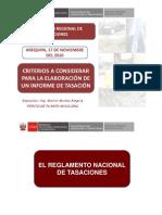 Criterios Para La Elaboracion de Informe de Tasacion