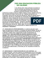 Manifiesto Por Escuela Publica