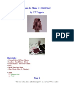 Dollhouse Kilt/Skirt Tutorial - 12th scale miniature by CWPoppets
