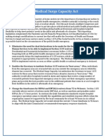 Medical Surge Capacity Act One-Pager