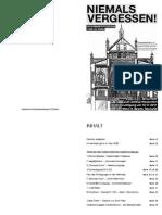 Broschüre antifaschistischer Gedenkrundgang 2011 - Novemberpogrome Wien