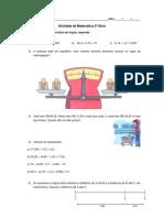Atividade de Matemática 5ª Série