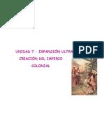 Unidad 7.-Expansión ultramarina y creación del imperio colonial (2)