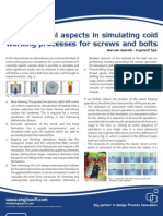 Critical aspects in simulating cold working processes for screws and bolts