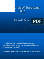 Baker Analysis of Secondary Data