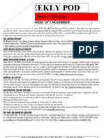 FRO WEEKLY PLAN OF THE DAY, THE WEEK OF 7 NOVEMBER 2011