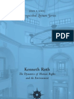 Kenneth Roth -- The Dynamics of Human Rights and the Environment