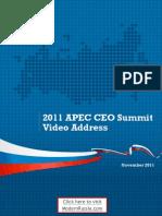 Russian President Medvedev 2011 APEC CEO Summit Video Address Transcript