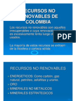 RECURSOS NO RENOVABLES DE COLOMBIA