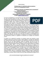 Antonio Guerrero -- ¿Es la neurofenomenología la solución al problema de la conciencia? (2010)