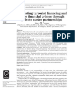 Forman - Combating Terrorist Financing Through Private Sector Partnership