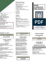 Church Bulletin -November 13th