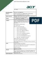 Acer Aspire 3680-2249 Notebook Specs