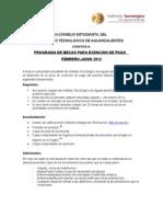 Convocatoria becas exención de pago Febrero - Junio 2012