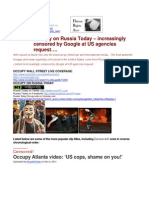 11-11-10 #Occupy on Russia Today – increasingly censored by Google at US agencies request...