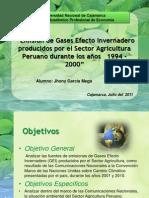 Emisión de Gases Efecto Invernadero producidos