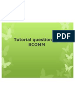 Tutorial Question for BCOMM