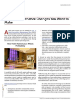Making Hotel Maintenance Changes