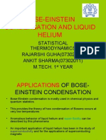 Bose-einstein Condensation and Liquid Helium