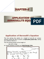 Applications of Bernoulli's Equation