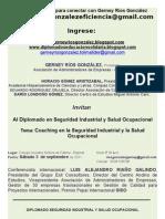 1invitacion Diplomado Seguridad Industrial y Salud Ocupacional Espinal - Ibague