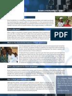 Down Syndrome Fact Sheet