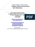 Master Degree in Plastic Surgery Thesis