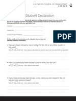 GSoM International Student Declaration Form