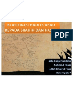 Klasifikasi Hadits Ahad Kepada Shahih Dan Hasan