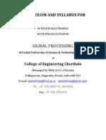 M Tech SP Syllabus