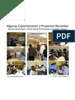 Algunas Capacitaciones y Proyectos Recientes