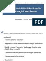 Applicazioni di Matlab all'analisi di immagini telerilevate