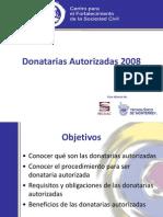 Donatarias Autorizadas 2008