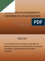 Lesion Por Aplastamiento y Sindrome de Aplastamiento
