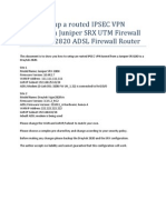 How to Setup a Routed IPSEC VPN Tunnel From Juniper SRX UTM Firewall to Draytek 2820 ADSL Firewall Router