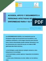 Cristina Pérez - ACOGIDA, APOYO Y SEGUIMIENTO A PERSONAS AFECTADAS DE UNA ENFERMEDAD RARA Y SU FAMILIA